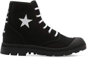 Givenchy Olympus Cotton Canvas Lace-Up Boots