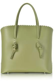 Coccinelle Women's Green Leather Tote.
