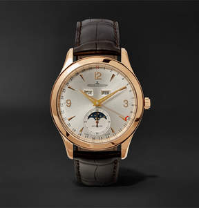 Jaeger-LeCoultre Master Calendar 18-Karat Rose Gold And Alligator Watch
