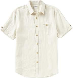 Murano Solid Linen Short-Sleeve Woven Camp Shirt