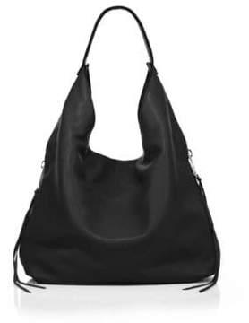Rebecca Minkoff Bryn Double-Zip Leather Hobo Bag - BLACK - STYLE