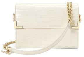 Aspinal of London | Chelsea Bag In Deep Shine Ivory Small Croc | Deep shine ivory small croc