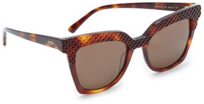 MCM Crystal Square Sunglasses