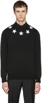 Givenchy Black Embroidered Stars Pullover