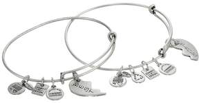 Alex and Ani Best Friends Set of 2 Charm Bangle Bracelet