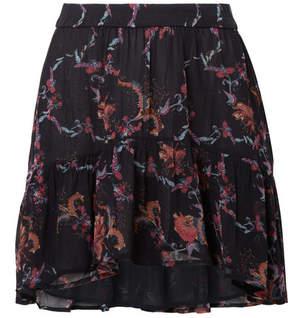 IRO Lilie Printed Georgette Mini Skirt - Black