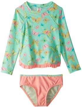 Hula Star Girls' Dreamy Butterfly Rashguard Set (2T6X) - 8154259