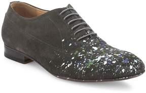 Maison Margiela Men's Paint Splattered Calf Leather Oxfords