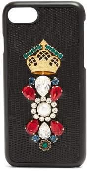 Dolce & Gabbana Iguana crystal-embellished iPhone® 7 case