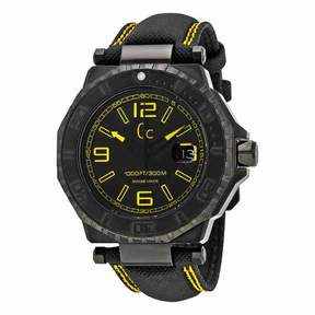 GUESS GC-3 Black Dial Yellow Accents Unisex Watch X79014G2S