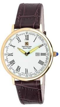Nixon Steinhausen Altdorf Collection Watch S0118 (Rose Gold/Brown Leather Band)