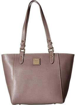 Dooney & Bourke Saffiano Janie Tote Tote Handbags - ELEPHANT/SELF TRIM - STYLE