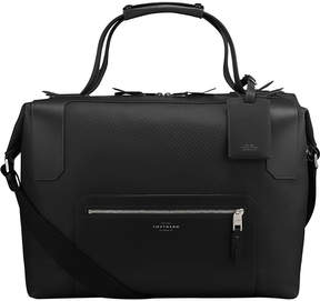 Smythson Greenwich large canvas and leather holdall