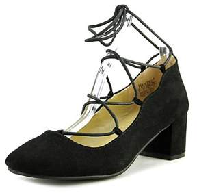 Wanted Womens Abby Round Toe Ankle Wrap Classic Pumps.