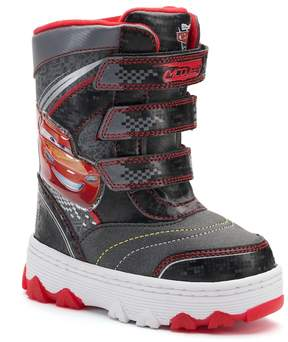 Disney Pixar Cars Lightning McQueen Toddler Boys' Light-Up Winter Boots