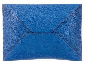 Hermes Chevre Mysore Envelope Document Pouch - BLUE - STYLE