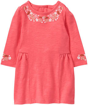 Gymboree Coral Flower-Border Dress & Diaper Cover - Infant