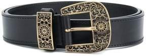 Alberta Ferretti engraved buckle belt