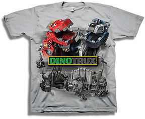 Freeze Silver Dinotrux Tee - Boys