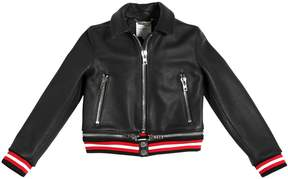 Givenchy Drummed Leather Bomber Jacket
