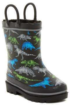 Western Chief Dinosaur Friends Fleece Lined Waterproof Rain Boot (Toddler & Little Kid)