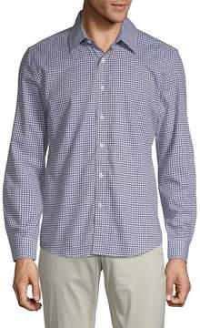Hyden Yoo Men's Gingham Cotton Button-Down Shirt