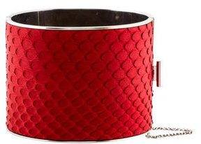 Celine Red Python Cuff Bracelet