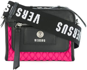 Versus quilted branded strap bag