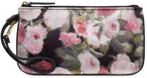 Nine West Womens Velvet Floral Print Wristlet Wallet