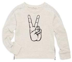 Appaman Toddler's, Little Girl's & Girl's Peace Cotton Sweatshirt