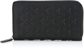 Jimmy Choo CARNABY Black Grainy Leather Travel Wallet with Stars