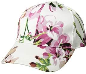 Collection XIIX Satin Floral Baseball Baseball Caps