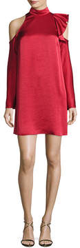 Camilla And Marc Fairlite Cold-Shoulder Shift Cocktail Dress, Mid Red