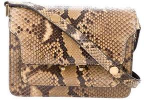 Marni Trunk Mini Python Crossbody Bag