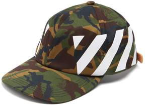 Off-White Printed camouflage cotton cap