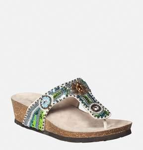 Avenue Chloe Beaded Thong Sandal