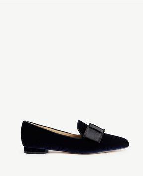Ann Taylor Aria Velvet Bow Loafers