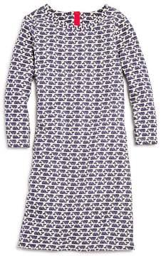 Vineyard Vines Girls' Etched-Whale Shift Dress - Big Kid