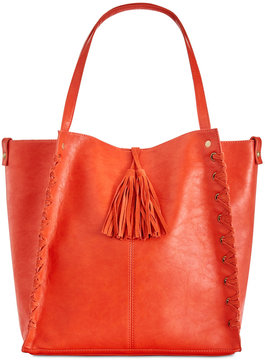 Inc International Concepts Venice Whipstitch Tote with Removable Pouch, Created for Macy's