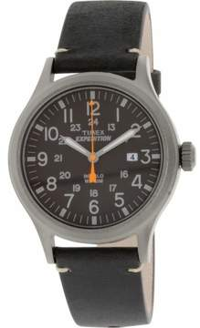 Timex Corporation Expedition Metal Scout Black Leather Black Dial Tw4b019009j