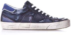 Philippe Model Bercy Blu Leather Sneakers