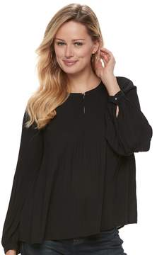 Apt. 9 Women's Pleated Crepe Blouse