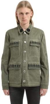John Richmond Washed Cotton Jacket