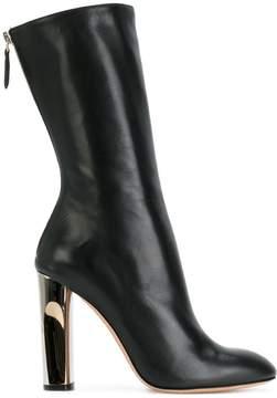 Alexander McQueen sculpted heel fitted boots