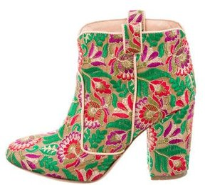 Laurence Dacade Boheme Embroidered Ankle Boots