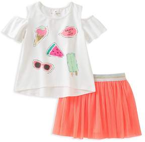 Kate Spade Girls' So Cool Graphic Top & Pleated Skirt Set - Baby