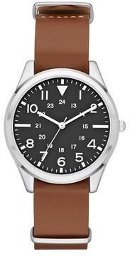 Merona Men's Field Strap Watch Brown