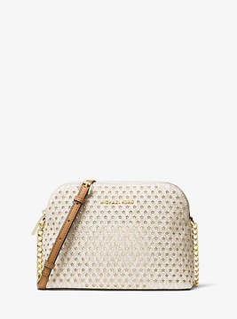 Michael Kors Cindy Perforated Logo Crossbody - NATURAL - STYLE