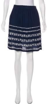 Closed Pleated Knee-Length Skirt