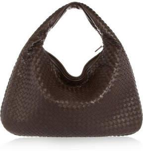 Bottega Veneta Veneta Large Intrecciato Leather Shoulder Bag - Dark brown
